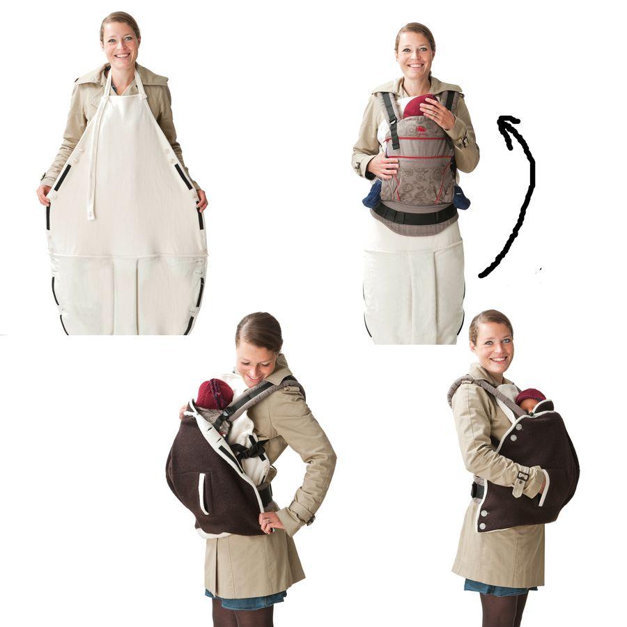 MAMALILA Couverture de portage 2 en 1 en laine