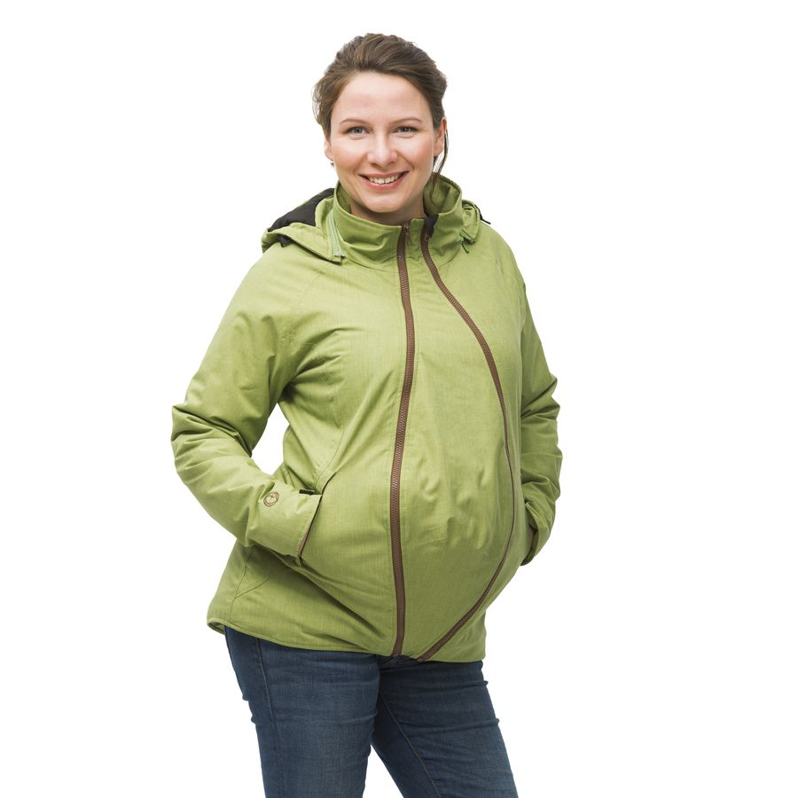 MAMALILA Veste de grossesse et de portage HIVER – PISTACHE