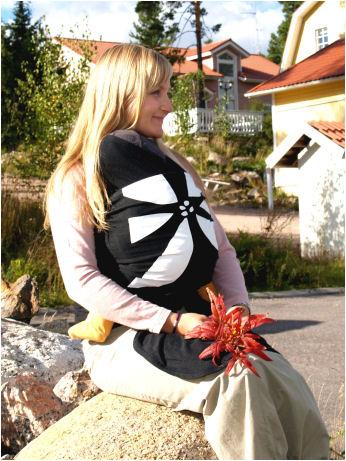 Racine MaM WRAP - L'écharpe porte-bébé souple en chanvre/coton avec bonnet et chausssons assortis