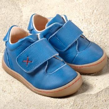 POLOLO PREMIERS PAS - Chaussures bébé  en cuir naturel à semelle souple (19-24) POLOLO - PRIMERO BLEU CALIFORNIA - Chaussure souple premiers pas