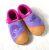 POLOLO SOFT - Chaussons souples en cuir naturel de tannage végétal pour bébés et bambins (16 à 27) Chausson Pololo CHAMELEON rose (18 à 27)