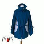 Vêtement de portage et de grossesse/MaM 2en1 VESTE-TUNIQUE de maternité en Polaire – BLEU IRIS