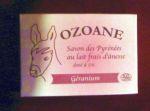 Savons au lait d'ânesse OZOANE/Savon surgras au GERANIUM