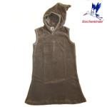 Collection STORCHENKINDER ENFANT (tailles 86-140)/STORCHENKINDER – ROBE LUTIN – GRIS CHARBON – Velours coton bio