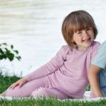 SOUS-VÊTEMENTS pour bébés et enfants/SOUS-PULL et LEGGINGS LILAS en Laine/soie (86-140)