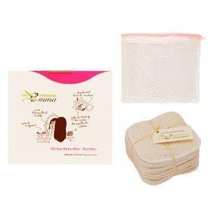 LES TENDANCES D'EMMA - carrés démaquillants lavables, serviette à cheveux et autres produits KIT ECO BELLE MINI – 10 Carrés démaquillants lavables