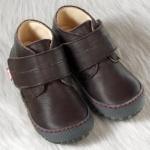 POLOLO MAXI - chaussures pour enfants en cuir écologique  du 24 au 34/Pololo – Chaussure à velcro ELCHE MARRON (24 au 34)