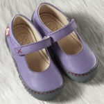 POLOLO MAXI - chaussures pour enfants en cuir écologique  du 24 au 34/Pololo – Ballerines MERCEDES LILAS (24 au 34)
