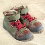POLOLO MAXI - chaussures pour enfants en cuir écologique  du 24 au 34/Pololo – Bottines TERRA VERT OLIVE (24 au 34)
