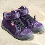 POLOLO MAXI - chaussures pour enfants en cuir écologique  du 24 au 34/Pololo – Bottines TERRA AUBERGINE (24 au 34)