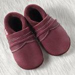 POLOLO SOFT - Chaussons souples en cuir naturel de tannage végétal pour enfants (24 à 39)/Chausson Pololo UNI chianti (24 à 39)