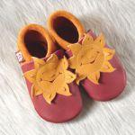 POLOLO SOFT - Chaussons souples en cuir naturel de tannage végétal pour bébés et bambins (16 à 27)/Chausson Pololo SOLEIL (18 à 27)
