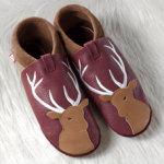 FINS DE SERIES - Chaussons Pololo  en cuir naturel pour toute la famille/Chausson Pololo CERF (28 à 45)