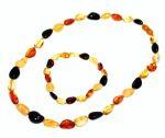 PARURES en AMBRE/PARURE Bracelet et collier d'ambre OLIVETTES