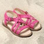 POLOLO MAXI - chaussures pour enfants en cuir écologique  du 24 au 34/Pololo – Sandales NINA ROSE FUCHSIA (24 au 34)