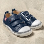 POLOLO MAXI - chaussures pour enfants en cuir écologique  du 24 au 34/Pololo – Baskets SOL BLEU GENTIANE (24 au 34)