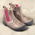 POLOLO MAXI - chaussures pour enfants en cuir écologique  du 24 au 34/Pololo – Low boots CHELSEA STONEPINK (24 au 34)
