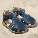 POLOLO MINI - chaussures en cuir naturel pour bébés du 19 au 25/POLOLO Sandale PLAYA bleu tobago/bleu californien (19 au 25)