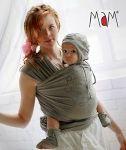 Porte-bébés/MaM WRAP - L'écharpe porte-bébé souple en chanvre/coton avec bonnet et chausssons assortis