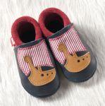 POLOLO SOFT - Chaussons souples en cuir naturel de tannage végétal pour enfants (24 à 39)/Chausson Pololo THORE le Viking (18 à 33)