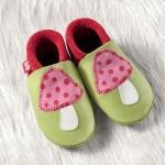 POLOLO SOFT - Chaussons souples en cuir naturel de tannage végétal pour bébés et bambins (16 à 27)/Chausson Pololo LUCKY (18 à 27)