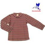 T-SHIRTS et SWEATSHIRTS/STORCHENKINDER – T-Shirt  manches longues RAYURES ROSE-ANTHRACITE en coton bio