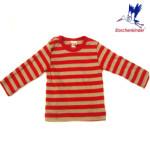 T-SHIRTS et SWEATSHIRTS/STORCHENKINDER - T-Shirt BEBE manches longues bicolore rayures rouges-beiges