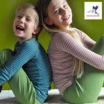 SOUS-VÊTEMENTS pour bébés et enfants/STORCHENKINDER – SOUS-PULL et LEGGINGS en Laine mérinos bio(62-140)
