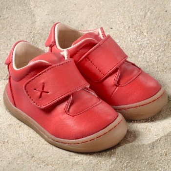 POLOLO PREMIERS PAS - Chaussures bébé  en cuir naturel à semelle souple (19-24) POLOLO - PRIMERO ROUGE BERRY - Chaussures souples premiers pas