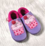 POLOLO SOFT - Chaussons souples en cuir naturel de tannage végétal pour bébés et bambins (16 à 27)/Chausson Pololo CUPCAKE (18 à 27)