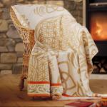 Idées Cadeaux/Plaid en coton FLEUR DE VIE
