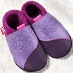 POLOLO SOFT - Chaussons souples en cuir naturel de tannage végétal pour bébés et bambins (16 à 27)/Chausson Pololo ROSALIE (18-27)