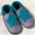 Chaussons pour Adultes/Chausson Pololo PETITE ETOILE Graphite-Turquoise  (18-41) – NOUVEAU