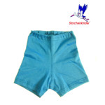 Collection STORCHENKINDER ENFANT (tailles 86-140)/STORCHENKINDER – SHORTIES BLEU AZUR en coton bio