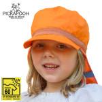 """SOLDES Chapeaux et Bonnets/PICKAPOOH – CASQUETTE DE SOLEIL ENFANT """"HENRI"""" - ORANGE (UV60)"""