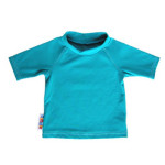 Couches lavables/UV-TEE – T-SHIRT BEBE ANTI-UV TURQUOISE (UV50)