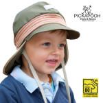 SOLDES Chapeaux et Bonnets/PICKAPOOH – CASQUETTE DE SOLEIL BEBE «TIM» – KHAKI (UV80)