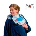 Vêtement de portage et de grossesse/MaM COAT – IRIS BLEU/GRIS CLAIR
