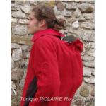 Vêtement de portage et de grossesse/MaM 2en1 VESTE-TUNIQUE de maternité en Polaire – ROUGE-NOIR