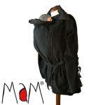 Vêtement de portage et de grossesse/MaM 2en1 VESTE-TUNIQUE de maternité en Polaire NOIR