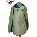 Vêtement de portage et de grossesse/MaM MOTHERHOOD COAT – OLIVINE CRYSTAL – Veste de maternité évolutive déperlante
