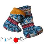 MANYMONTHS Collection LAINE/MANYMONTHS – CHAUSSONS DE PORTAGE ajustables en laine/polaire