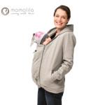 BEBE AU SOLEIL/MAMALILA - GILET ZIPPÉ GRIS de grossesse et portage en coton biologique