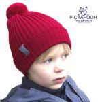 PICKAPOOH - Bonnets et Chapeaux/PICKAPOOH - Bonnet en laine mérinos NINA - ROUGE