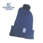 CHAPEAUX ET BONNETS/PICKAPOOH - Bonnet en laine mérinos NINA - BLEU MARINE