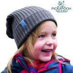 PICKAPOOH - Bonnets et Chapeaux/PICKAPOOH - Bonnet en laine mérinos NINA - TAUPE