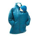 Vêtement de portage et de grossesse/MAMALILA - DOUDOUNE PLUME POUR DEUX - Bleu