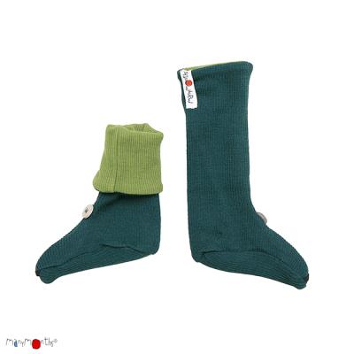 Racine MANYMONTHS – CHAUSSONS DE PORTAGE Nourrisson – ajustables en laine/coton