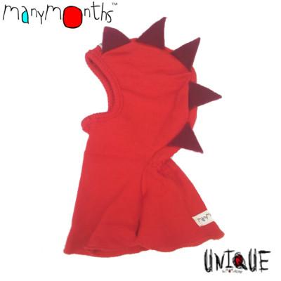 Racine MANYMONTHS – CAGOULE «DINO» en pure laine mérinos avec broderie