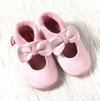 POLOLO SOFT - Chaussons souples en cuir naturel de tannage végétal pour bébés et bambins (16 à 27) Chausson Pololo BALLERINA rosé (18-23)
